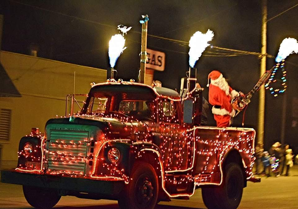Powers Oregon Christmas Lights The Night!